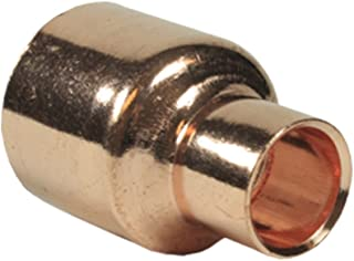Libra Supply 2 x 1 inch(Nominal Size) Copper Coupling Bell Reducer, C x C, (click in for more size options), 2'' x 1'', 2 x 1-inch Copper Pressure Pipe Fitting Plumbing Supply