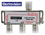 Silber 3 Way Satellite Splitter mit DC Pass