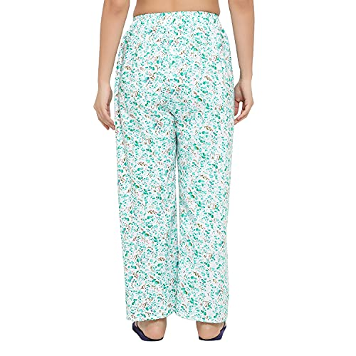 CIERGE Women's Cotton Printed Pyjama/Track Pant Lower (Multicolour; Free Size) Pack of 2