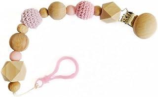Portachupón en color rosa - PEONI MILOU/regalo para bebés/niño/niña/babyshower/bautizo