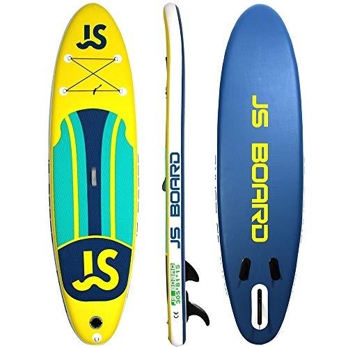 NgMik Tabla De Surf Inflable 305x81x15cm Inflable Sup For Los Jóvenes Y Adultos Libre De Accesorios Estable (Color : Yellow, Size : 305x81x15cm)