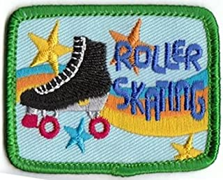 Cub Girl Boy ROLLER SKATING Embroidered Iron-On Fun Patch Crests Badge Scout Guides
