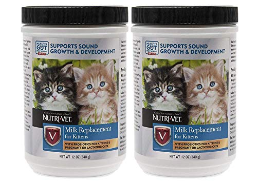Nutri-Vet Milk Replacement for Kittens with Probiotics, 12-Ounce Pack of 2