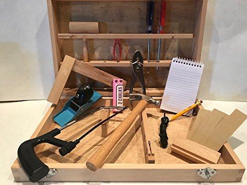 Tool Box Kids Children Carpenter Set Natural Wood Box