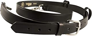 Boston Leather New York Style Leather Radio Strap, Plain Black - Regular - w/Leather Mic Straps