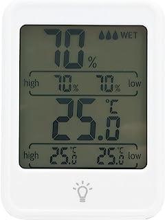 Hygromètre numérique, hygromètre LCD Haute précision rétro-éclairage Professionnel pour Les lieux de contrôle de la tempér...
