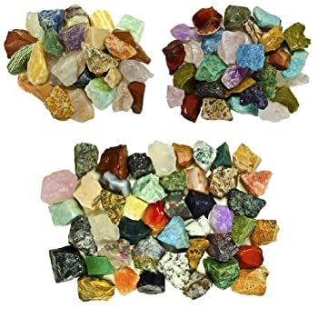 Fantasia Materials  3 lb Premium World Stone Mix  Largest Variety ON Amazon  from Asia Brazil and Madagascar! Bulk Rough Raw Natural Crystals & Rocks for Tumbling Polishing Wire Wrapping Reiki