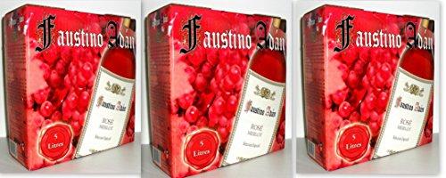 3 x FAUSTINO ADÁN ROSÉ MERLOT Bag in Box 5L Incl. Goodie von Flensburger Handel