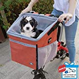 Raymace Dog Bike Basket Bag with Reflective Stripe Pet Bicycle Booster Carrier...
