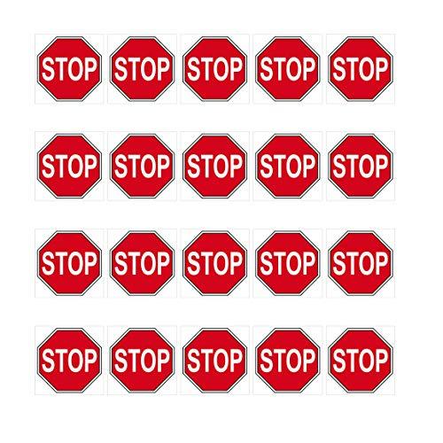 GreenIT 20 Aufkleber 2cm Stop Schild Zeichen Symbol Modellbau Mini Sticker 4061963009482