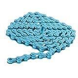 Generic–Cadena de bicicleta BMX Fixie Singlespeed–Cadena de bicicleta (1/2x 1/8pulgadas, azul