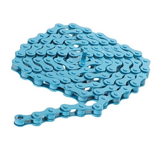 Generic Fahrradkette - BMX Fixie Single Speed Fahrrad Kette 1/2 x 1/8 Zoll - Blau