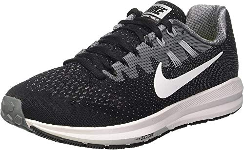 NIKE Women's Air Zoom Structure 20 Black/White/Cool Grey Running Shoe 7 Women US