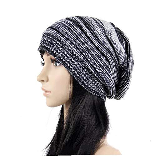 tJexePYK Fashion Classic Knit Beanie Thick weiche warme Chunky Stretch-Kabel-Winter-Hut Unisex für Damen Herren