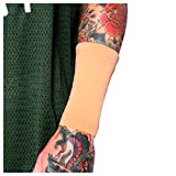 Tat2X Ink Armor Premium Forearm 6' Tattoo Cover Up Sleeve - No Slip Gripper - U.S. Made - Light - ML (Single Tattoo Cover Sleeve)