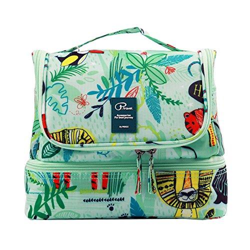 Beauty Case da Viaggio Borsa da Toilette Tuscall Borsa da Viaggio Impemeabile Ripiegabile Cosmetico Bag per Donna & Uomo e bambino, Adatto Per Cosmetici, Accesori da viaggio (Fenicottero)