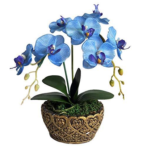 Artificiali fiori di orchidea, fiori artificiali in vaso Phalaenopsis Bonsai Set