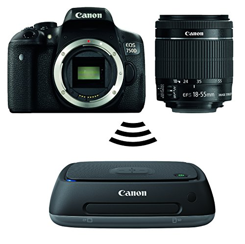 Canon EOS 750D SLR-Digitalkamera (24 Megapixel, APS-C CMOS-Sensor, WiFi, NFC, Full-HD) Kit inkl. EF-S 18-55 mm IS STM Objektiv schwarz