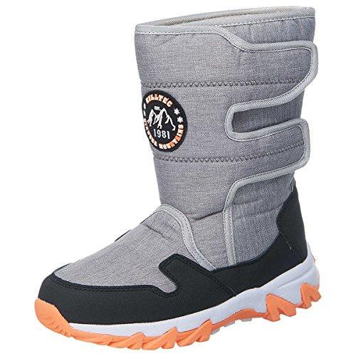 Killtec SLEDGY Kinder Winterstiefel Stiefel, Boots, grau meliert, Gr. 31-36 (EU 33)