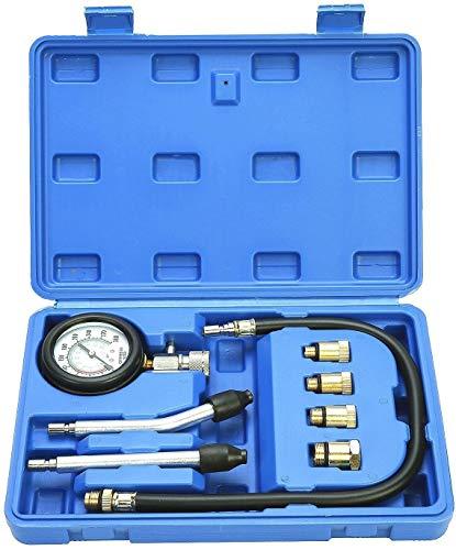Kompressionstester für Benzin Motor 0-20 Bar oder 0-300 psi Verdichtungsmesser,Motor Kompression prüfen meßen Kfz M10 M12 M14 M18,Zylinder Automotive Test Kit Kfz Werkzeug Messgerät mit Tragetasche