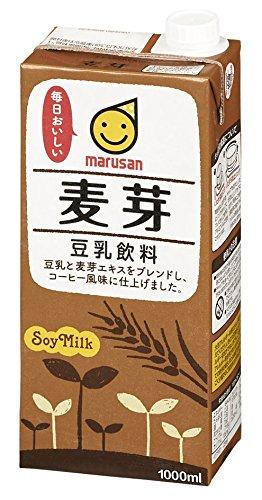 マルサン 豆乳飲料 麦芽 パック1000ml