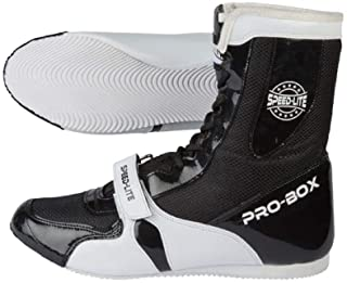 Pro Box Speed Lite Senior Boxing Boots Adult Sparring Trainers - Black/White