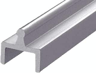 CRL Satin Anodized Aluminum Single Bottom Rail - D601A