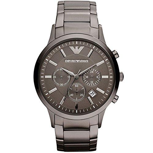 Emporio Armani Herren Analog Quarz Uhr mit Edelstahl Armband AR2454