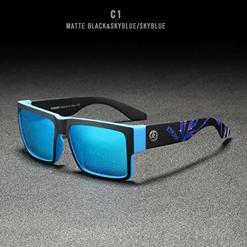 Burenqi Gafas de Sol Deportivas para Hombre Gafas cuadradas Gafas de Sol para Mujer UV400 Gafas de Sol Hombre