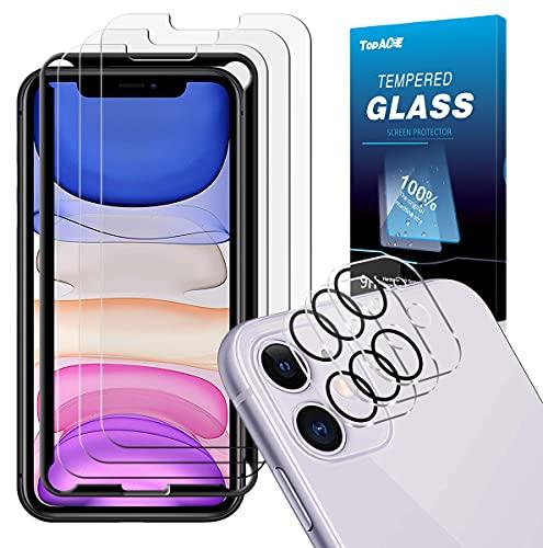 TOPACE Panzerglas kompatibel mit iPhone 11 Panzerglas(3)+Kamera Panzerglas(3), Display und Kamera schützen, 9H Härte Panzerglas Schutzfolie, HD Klar Blasenfrei Glas Displayschutzfolie