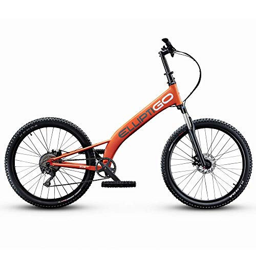 ElliptiGO MSUB All Terrain Outdoor Stand Up Bike and Best Hybrid Indoor Exercise Trainer, Orange