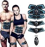 SHENGMI Muscle Toner, Abdominal Toning Belt Abs Trainer Body Fitness Belt Ab Workout Machine for Men...
