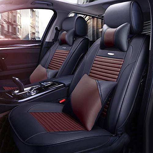 GQCZD-11 Autositzbezug,Sitzbezügeset,Sitzauflage,Autositz, Autositzbezüge, Jahreszeiten Universal-Komfortabler Autositzpolster, Sitzschutz Full Set (Color : Coffee)