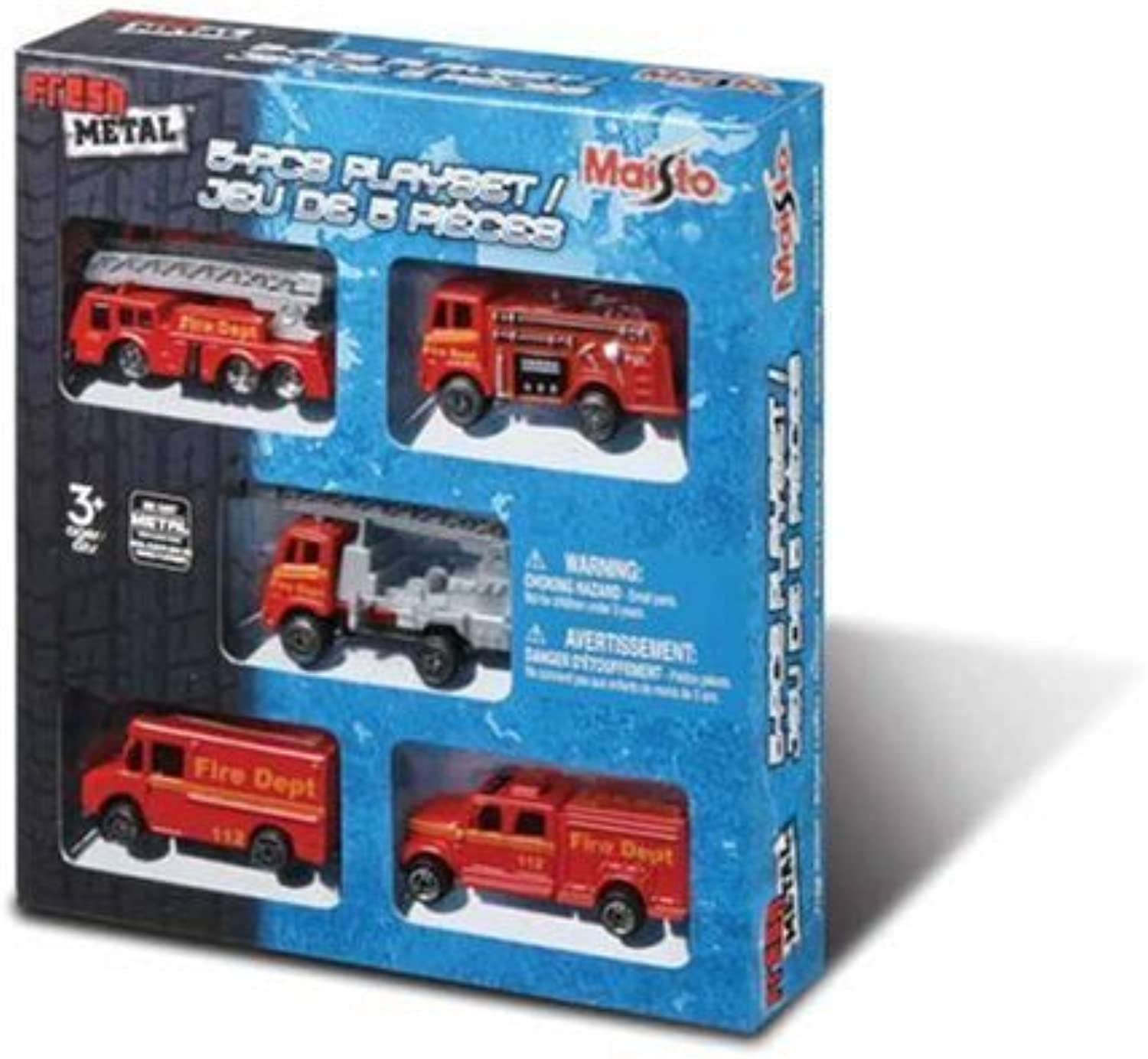 Fresh Metal  5 Piece Die Cast Emergency Rescue Set by MAISTO