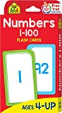 School Zone - Numbers 1-100 Flash Cards - Ages 4 and Up, Numbers 1-100, Counting, Skip Counting, and More