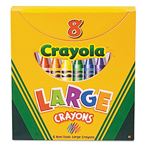 Binney & Smith Large Crayons Box of 8