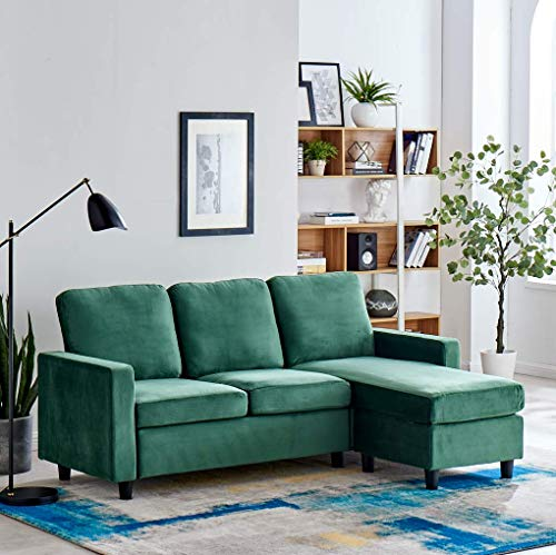 Cherry Tree Furniture Campbell 3-Seater Sofa with Reversible Chaise (Green)
