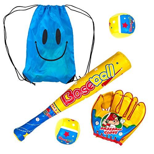 DLAGER Baseball Bat and Ball for Toddlers, 16.5 inch, 1x Plastic Baseball Bat,2 x Foam Balls,1 x Baseball Glove,1 x Backpack Carrying Bag