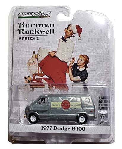 Greenlight 54020-F Norman Rockwell Series 2-1977 Dodge B-100 Van 1:64 Scale