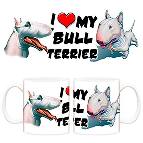 Diver Tazas Taza I Love my Bull Terrier Perro - Cerámica