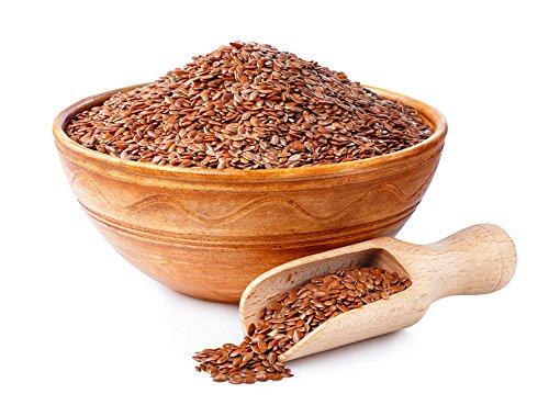 Graines de lin entières | 1 Kg de graines de lin 100% d'origine naturelle | Sans conservateur | Sans sel | Sac refermable de graines de lin brunes | adaptées aux régimes végétariens et végétaliens.