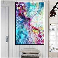 BD-Boombdl キャンバスプリントキャンバスブルーパターン装飾壁アート背景リビングルーム家の装飾壁画40X60cmフレームなし