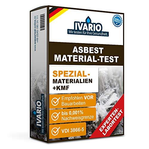 IVARIO Asbest Material-Test Spezial + KMF/REM-Methode/gemäß VDI 3866 - Experten-Analyse, Einfache Probenahme