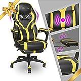 Video Gaming Chair Racing Recliner - Ergonomic Adjustable Padded Armrest Swivel High Back Footrest...