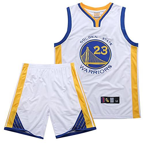 ZRHZB Draymond Green # 23 NBA Golden State Warriors Camiseta Y Pantalones Cortos de Jersey Blanco Clásico para Hombre, Traje de 2 Piezas (S-XXXL),3XL
