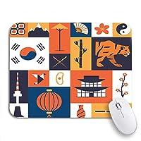 ROSECNY 可愛いマウスパッド テキストスプレッドラブ概念的なフレーズカリグラフィインスピレーション黒板ノンスリップゴムバッキングノートパソコン用マウスパッド