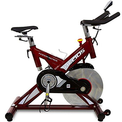 BH Fitness Helios H9178FD – Indoorbike/Indoorcycling - 22kg Schwunggewicht/PoliV-Riemen/LCD-Monitor