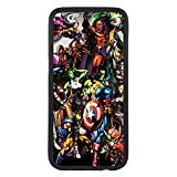 afrostore Funda Carcasa de móvil para Apple iPhone 5c Superheroes de Marvel TPU Borde Negro