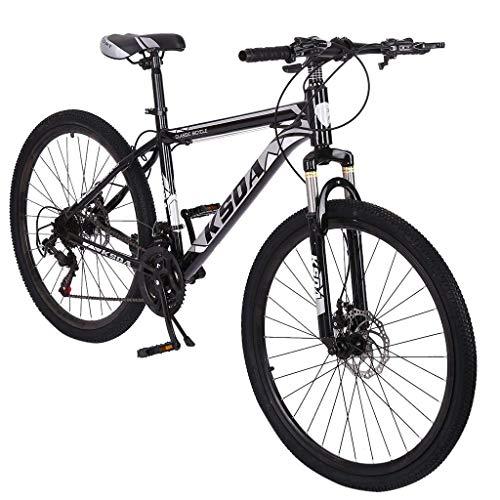 ZSMLB Bicicletas de Carretera para Adultos Bicicletas de montaña Bicicleta de montaña de 26 Pulgadas, Bicicleta de montaña de 21 velocidades con Marco de Acero con Alto Contenido de Carbono, Freno