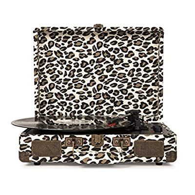 Crosley Cruiser Deluxe Portable Turntable (Leopard)